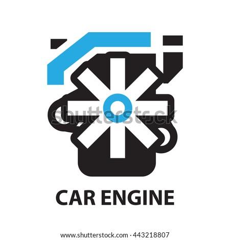 Car Engine Icon Symbol Stock Vector 443218807 Shutterstock