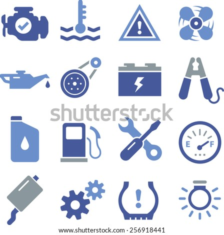 Car engine parts. - stock vector