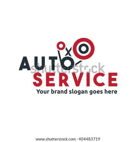 Car Engine Service Logo, Care Engine upgrade, Car Tuning - stock vector