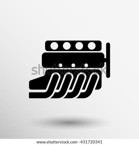 Car Engine Symbol Vector Silhouette Automobile Stock Vector Royalty