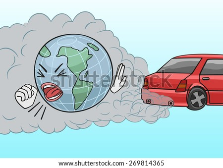 Car exhaust. - stock vector