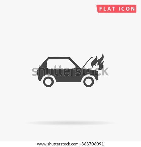 Car fired Icon Vector. Car fired Icon JPEG. Car fired Icon Picture. Car fired Icon Image. Car fired Icon Graphic. Car fired Icon JPG. Car fired Icon EPS. Car fired Icon AI. Car fired Icon Drawing - stock vector
