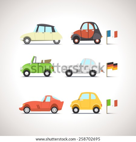 Car Flat Icon Set 8 - stock vector