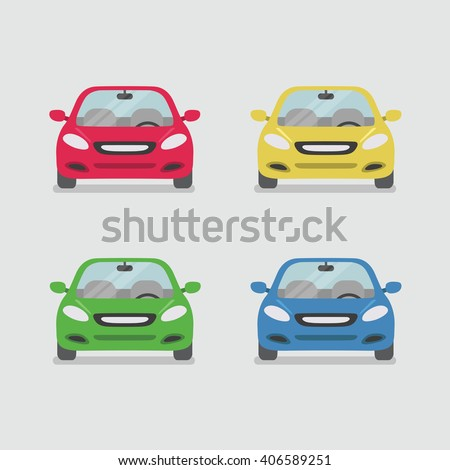 Car front view vector - stock vector