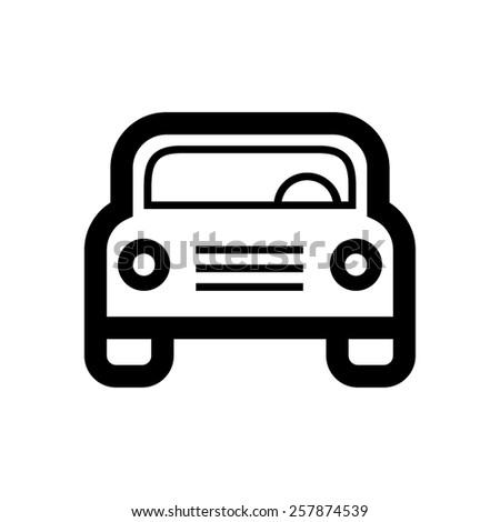 Car icon - stock vector