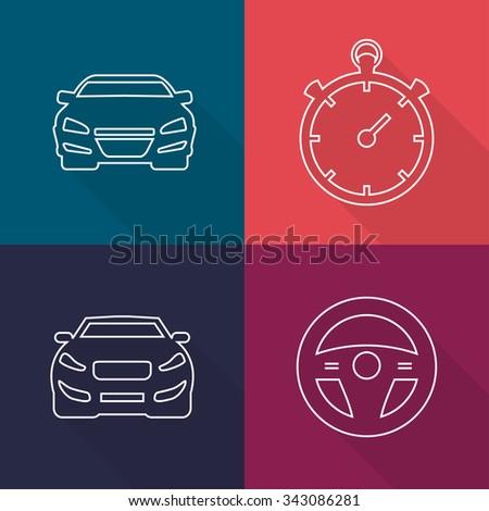 Car Icon, Car Icon, Object Car, Icon Drawing, Car Icon, Image Car, Icon Graphic, Car Icon Art - stock vector