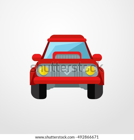 car icon. flat design