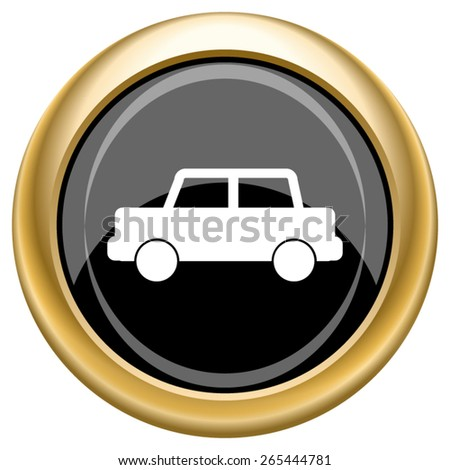 Car icon. Internet button on white  background. EPS10 Vector.  - stock vector