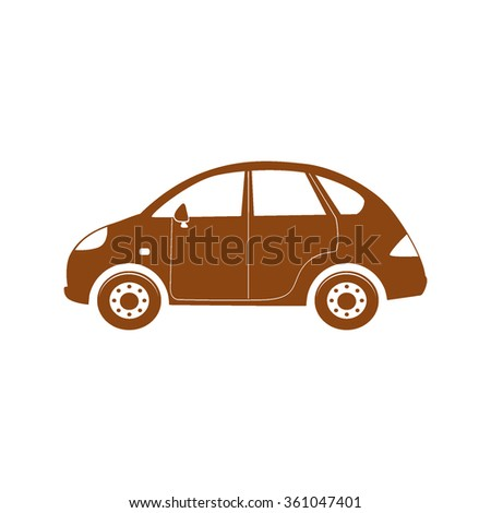 car icon on white background vector illustration