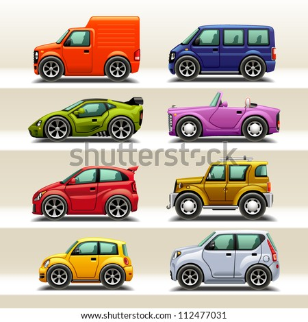 car icon set-2 - stock vector