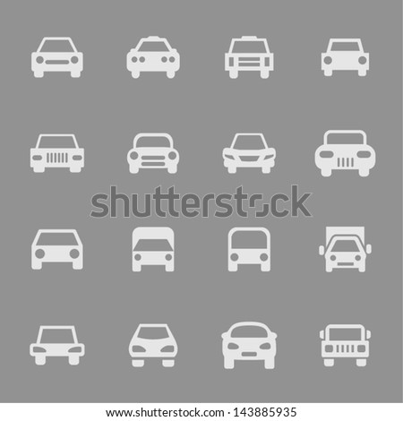 Car icon set for web - stock vector