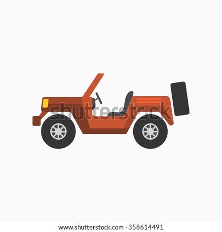 Car Icon Stock. Vector Illustration - stock vector