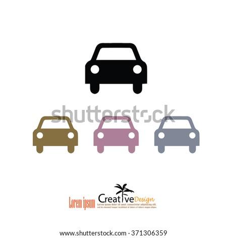 Car icon. Transportation icon.Vector illustration.              - stock vector