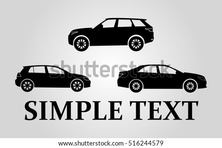 Car icon, Transportation Sign isolated on white background. Car rental concept. Flat design style. Trendy Modern passenger family auto.