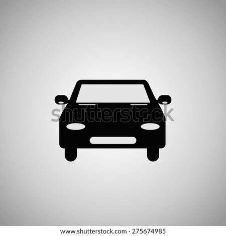 car icon, vector illustration - stock vector