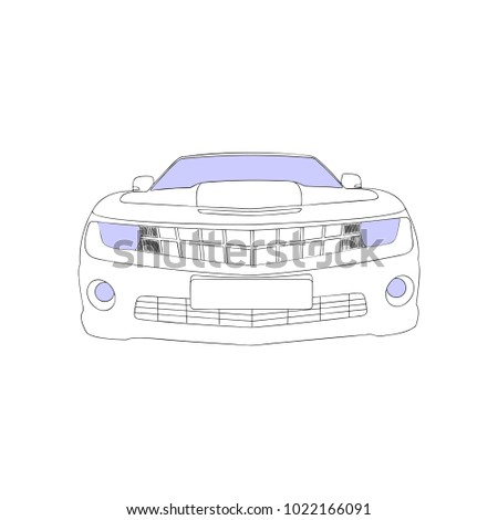 Car Icon Vector Illustration White Color
