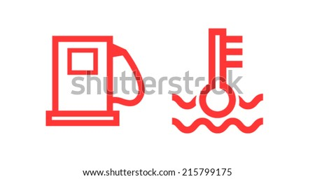 car icons - stock vector