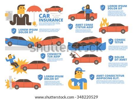 Car Insurance - stock vector