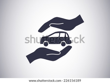 Car Insurance web icon. vector design - stock vector