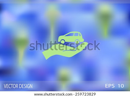 Car Insurance web icon. vector design