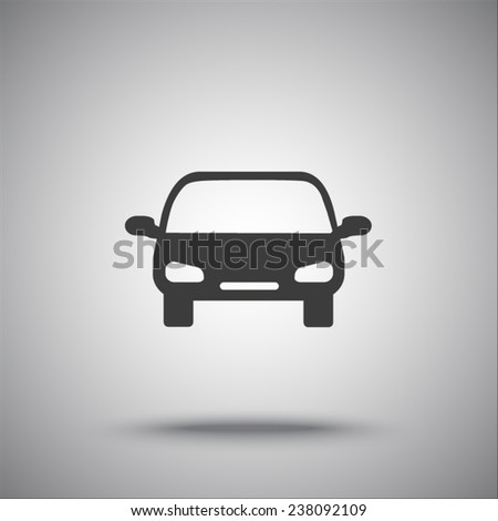 car isolated vector icon - stock vector