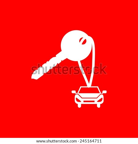 Car key icon - stock vector