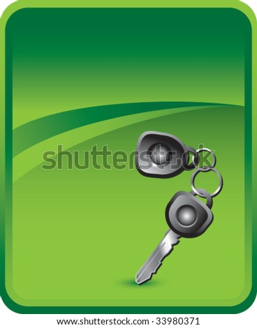 car keys on classic clean background - stock vector