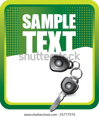 car keys on grunge style background - stock vector