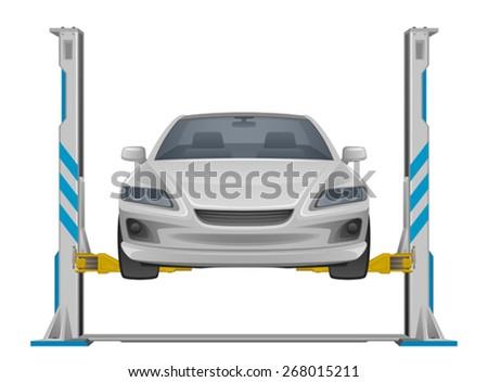 Car lifting - stock vector