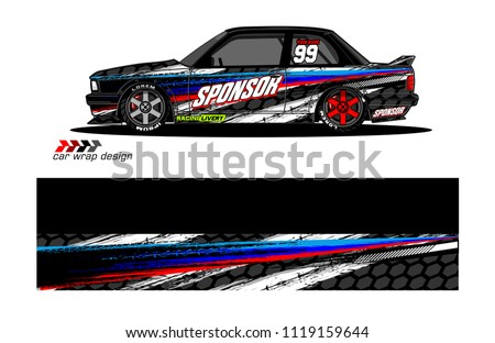 Car Livery Graphic Vector Abstract Racing Stock Vector Royalty Free