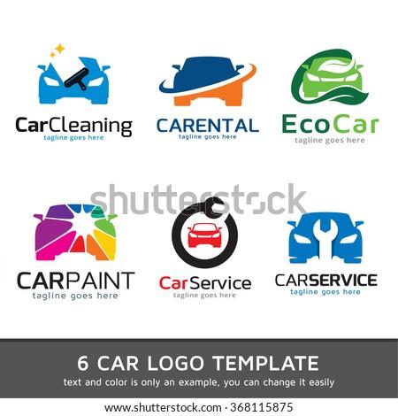 Car Logo Template Design Vector - stock vector