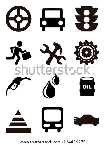 car maintenance and repair icons over white background. vector illustration - stock vector