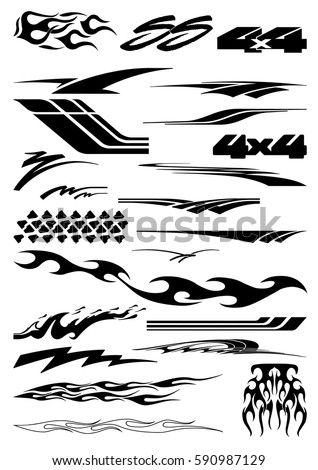 Decal Stock Images RoyaltyFree Images Vectors Shutterstock - Modern business vehicle decals