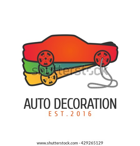 Car paint vector logo, icon, emblem, sign template. Illustration of pantone book for car airbrushing - stock vector
