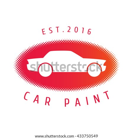 Car paint vector logo template, badge, icon. Design element for business related to airbrushing, car cosmetics, paints, service - stock vector