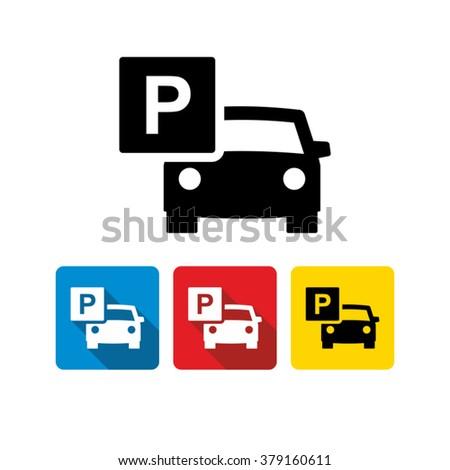 Car parking icon  - stock vector