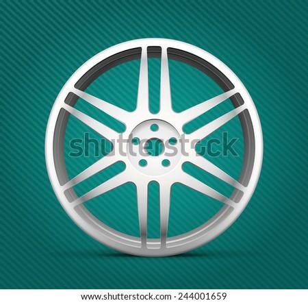 Car parts - alloy wheels - stock vector