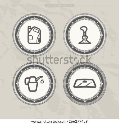 Car parts and accessories, from left to right - 