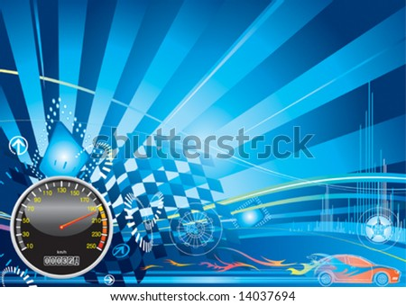 Car racing concept design, vector illustration with layer - stock vector