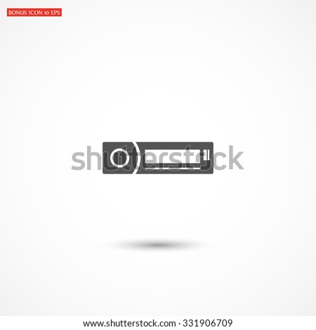 Car radio icon. vector 10 EPS - stock vector