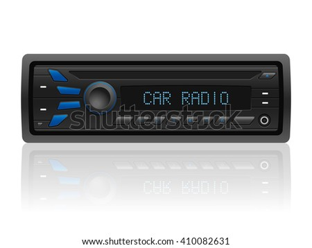 Car radio on a white background. Vector illustration.