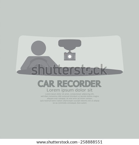 Car Recorder Graphic Symbol Vector Illustration  - stock vector