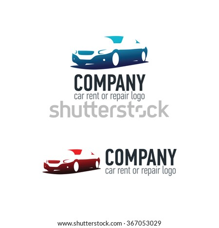 Car rent or repair service label. Vector logo design template. Concept for automobile repair service, spare parts store. - stock vector