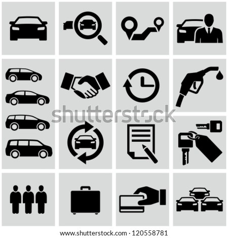 Car rental - stock vector
