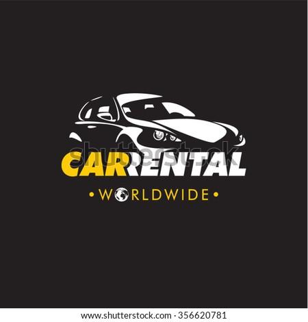 Car rental company logo, rent a car - stock vector