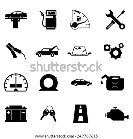 Car Repair Icon Set - stock vector