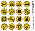 Car repair service icon. vector - stock vector