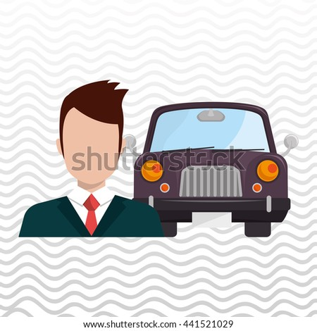 car salesman design, vector illustration eps10 graphic