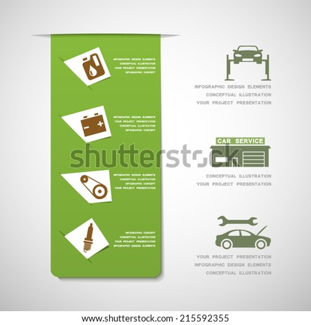 Car service design elements - stock vector