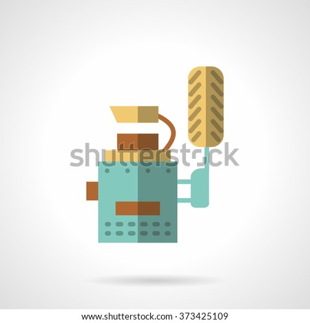 Car service equipment. Automobile workshop. Wheel balancing. Vector icon flat color style. Web design element for site, mobile and business. - stock vector